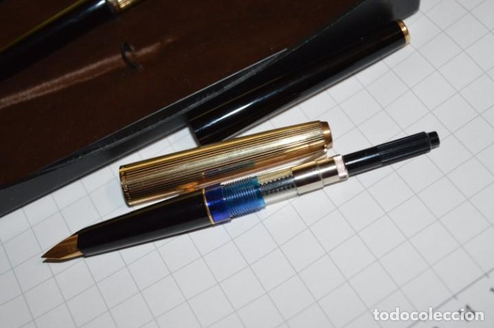 Plumas estilográficas antiguas: Estuche/caja PELIKAN - Modelo 30 ROLLED GOLD - ¡Precioso y buen estado físico, mira fotos/detalles! - Foto 6 - 240931475