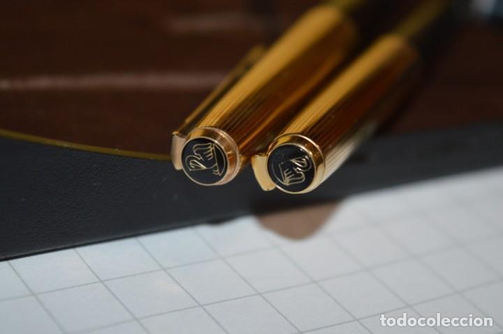 Plumas estilográficas antiguas: Estuche/caja PELIKAN - Modelo 30 ROLLED GOLD - ¡Precioso y buen estado físico, mira fotos/detalles! - Foto 10 - 240931475