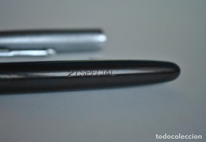 Plumas estilográficas antiguas: Pluma estilográfica Special 21 Iridium Pen color azul oscuro - Foto 3 - 241324805