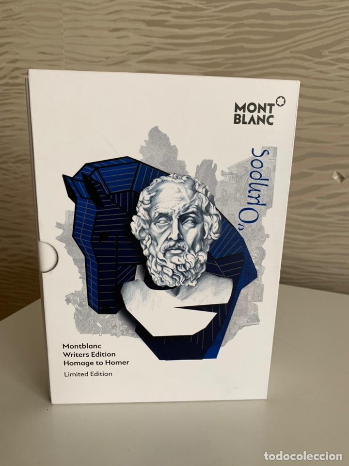 Plumas estilográficas antiguas: MONT BLANC. Edición Limitada HOMENAJE A HOMERO. Solo Estuche de Pluma - Foto 2 - 242831155