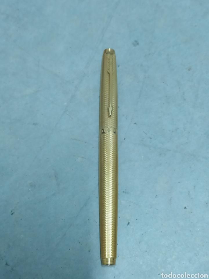 Plumas estilográficas antiguas: 2 PLUMAS ESTILOGRÁFICAS PARKER MADE IN FRANCIA ORO - Foto 2 - 242835590