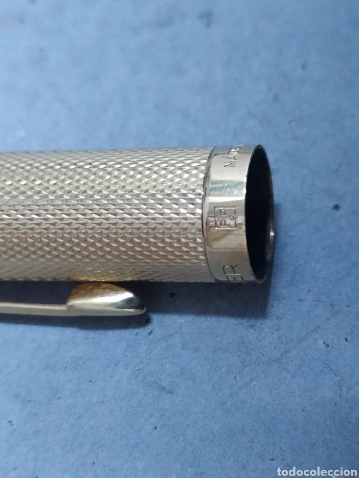 Plumas estilográficas antiguas: 2 PLUMAS ESTILOGRÁFICAS PARKER MADE IN FRANCIA ORO - Foto 4 - 242835590