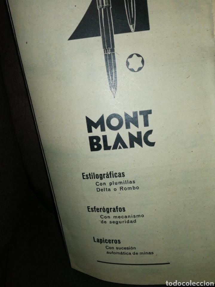 Plumas estilográficas antiguas: MONT BLANC, ANTIGUA PUBLICIDAD AÑO 1961. 37CM X 14CM. - Foto 2 - 243685050