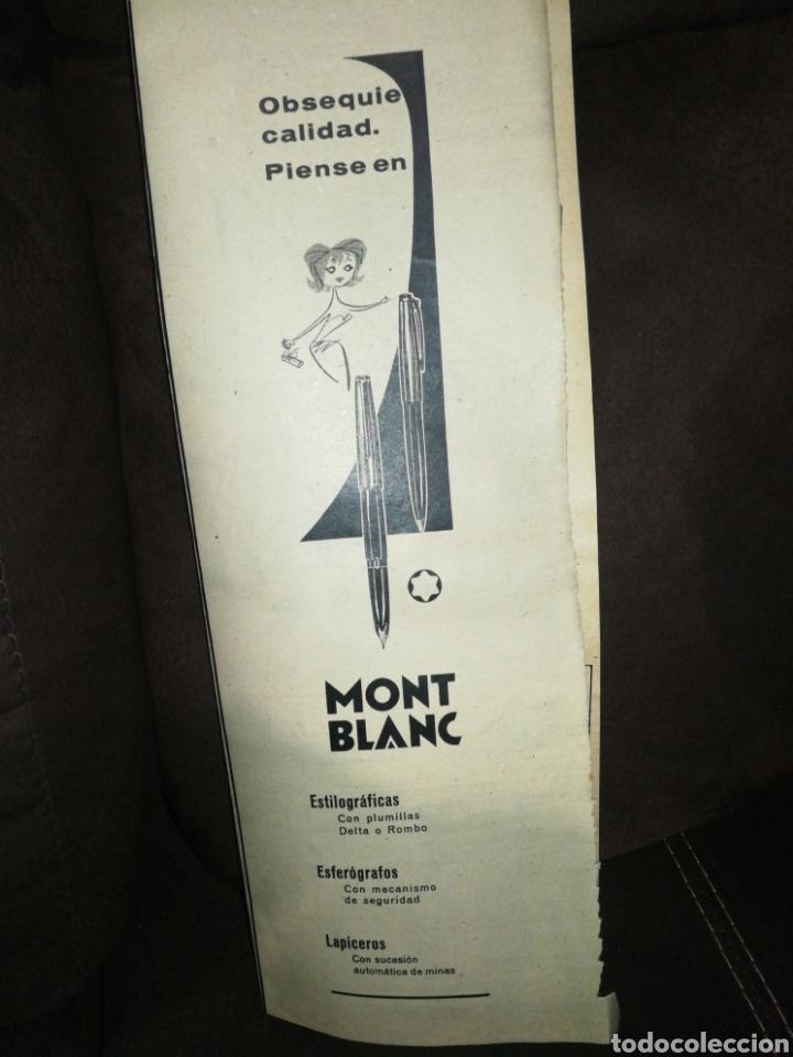 MONT BLANC, ANTIGUA PUBLICIDAD AÑO 1961. 37CM X 14CM. (Plumas Estilográficas, Bolígrafos y Plumillas - Plumas)