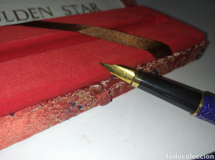 Plumas estilográficas antiguas: Pluma golden star gsp 910, años 50/60 - Foto 2 - 245107625