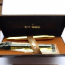 Stylos-plume anciens: PLU-13. ESTILOGRÁFICA SHEAFFER IMPERIAL 18K GOLD PLATE. MADE IN USA. EN ESTUCHE .. Lote 245271035