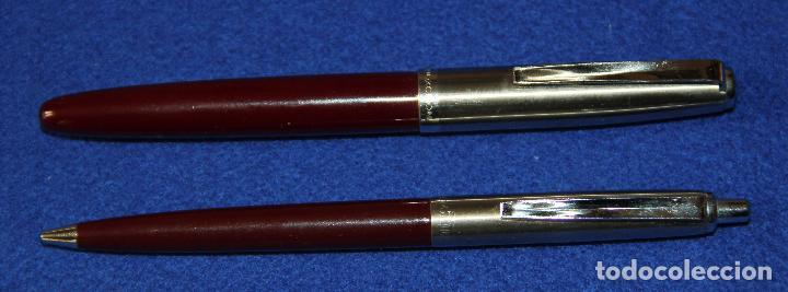 Plumas estilográficas antiguas: ANTIGUA PLUMA ESTILOGRAFICA INOXCROM 55 Y BOLIGRAFO A JUEGO - Foto 4 - 245596555
