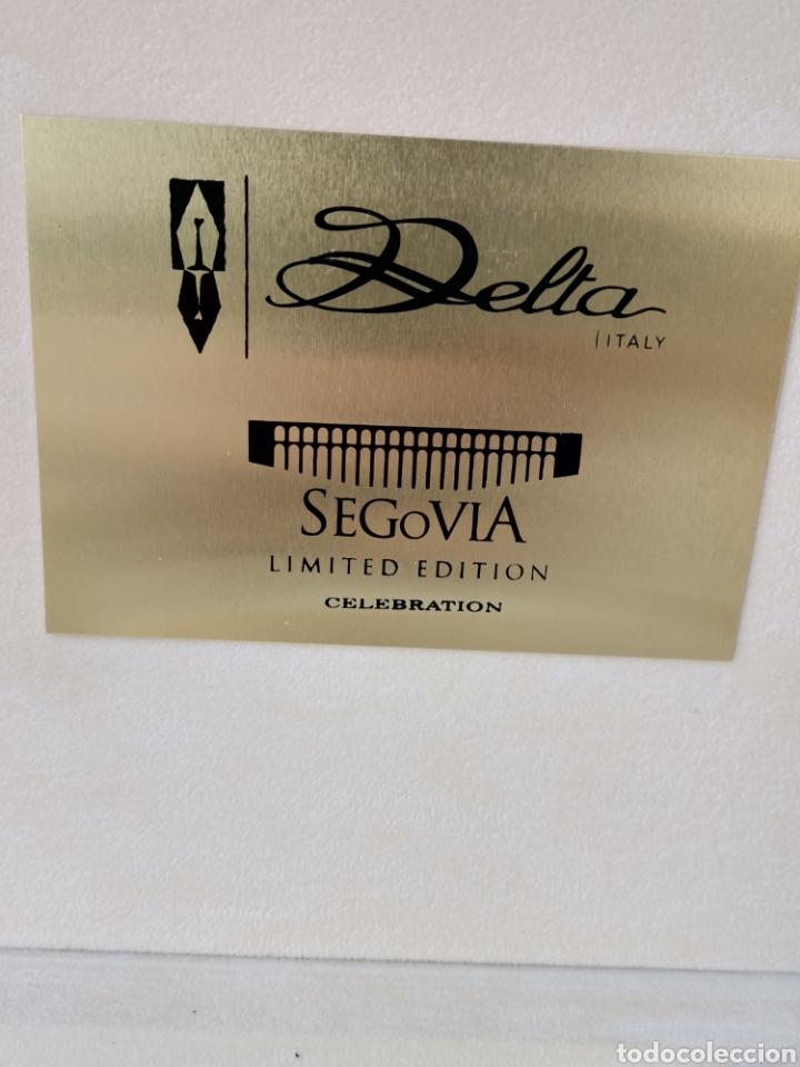 Plumas estilográficas antiguas: DELTA SEGOVIA LIMITED EDITION CELEBRATION - EDICIÓN LIMITADA 31/76. PLUMIN DE ORO 18K 750 - Foto 6 - 253330365