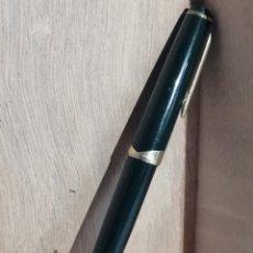 Plumas estilográficas antiguas: PLUMA ESTILOGRAFICA MONTBLANCH N°12 COLOR VERDE OSCURO. Lote 254992780