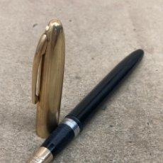 Plumas estilográficas antiguas: PLUMA SHEAFFER'S CELULOIDE NEGRO. Lote 270634848