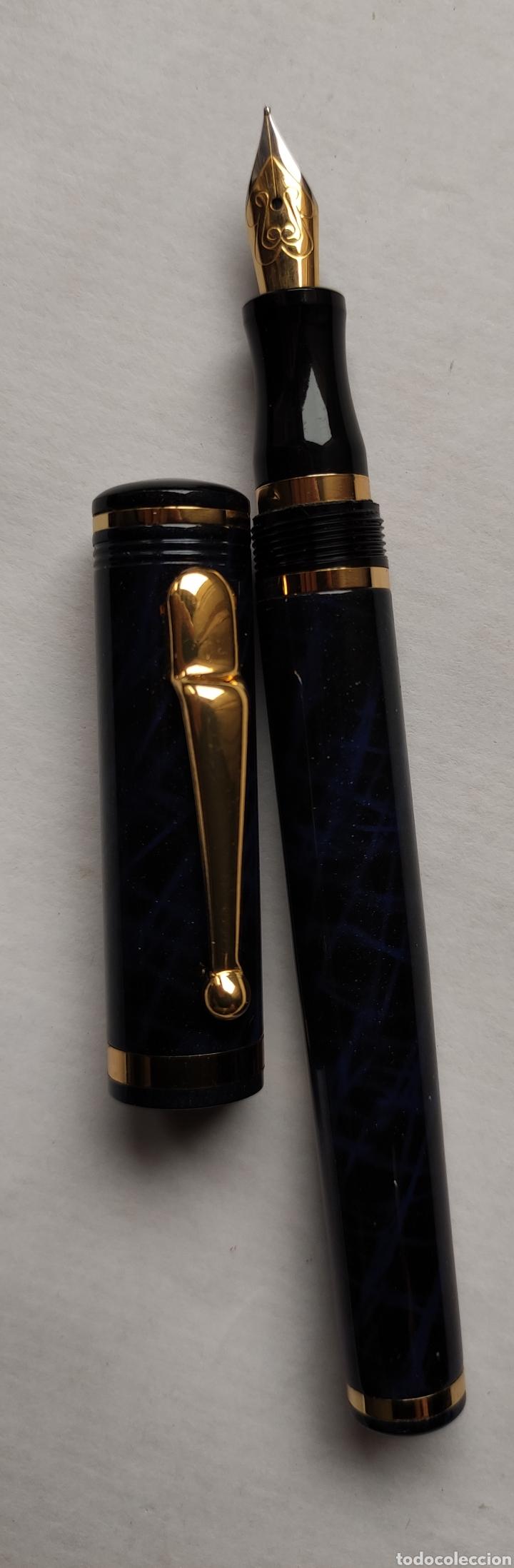 Plumas estilográficas antiguas: Estuche madera y 2 plumas estilográficas - Foto 4 - 258087115