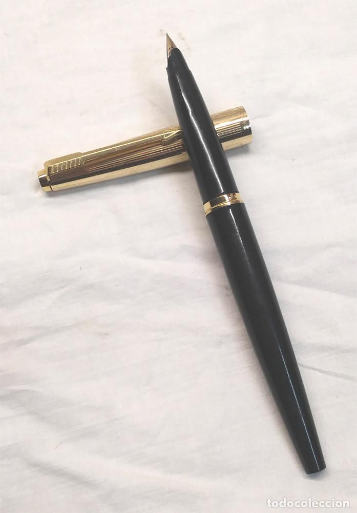 Plumas estilográficas antiguas: Pluma Parker Capuchon Placado Oro Made in Usa - Foto 2 - 260867675