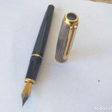 Plumas de tinta permanente antigas: ANTIGUA PLUMA ESTILOGRÁFICA INOXCROM SPAIN SIROCCO CAPUCHÓN DE PLATA DE LEY 925. Lote 262485485