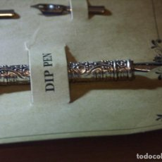 Plumas estilográficas antiguas: ESTILOGRAFICA PLUMA DE AVE MORADA. Lote 266753448