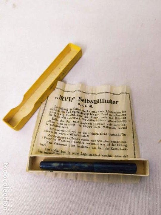 Plumas estilográficas antiguas: Pluma Irvin Selbstfüllhalter. Plumín P&C. Con la caja. 8.5cm - Foto 6 - 268606089