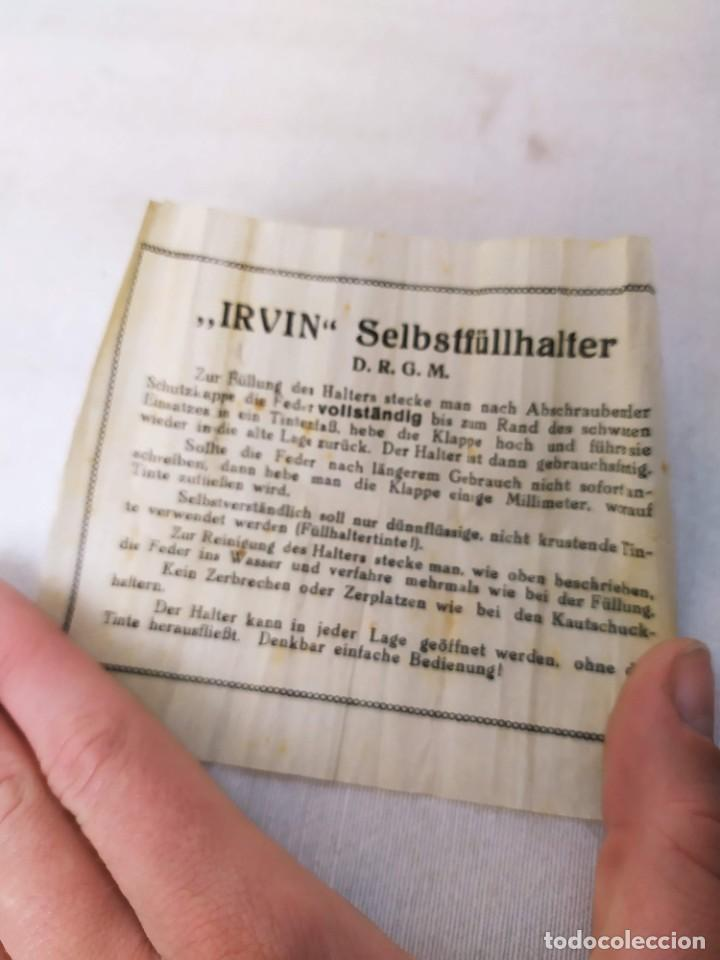 Plumas estilográficas antiguas: Pluma Irvin Selbstfüllhalter. Plumín P&C. Con la caja. 8.5cm - Foto 5 - 268606089