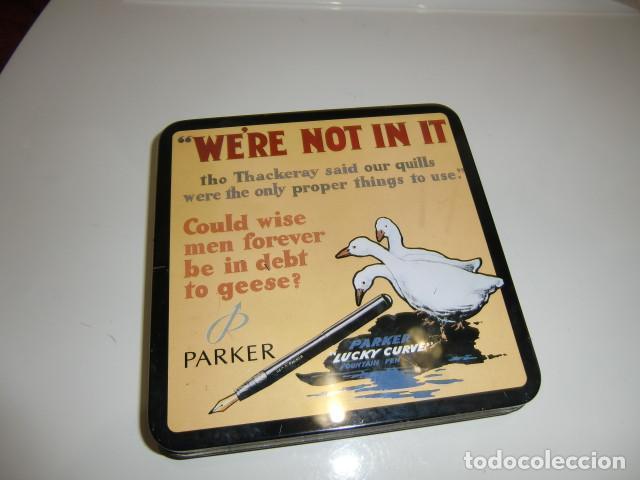Plumas estilográficas antiguas: juego parker en caja metalica - Foto 2 - 272033098