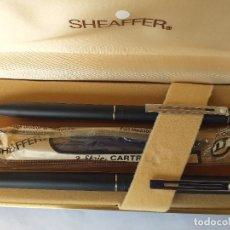Plumas de tinta permanente antigas: PLUMA Y BOLIGRAFO SHEAFFER USA TARGA 1002 FINE - EN CAJA ORIGINAL - COMO NUEVAS. Lote 274440178