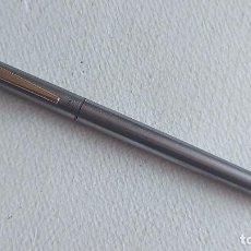 Plumas de tinta permanente antigas: U-44.- PLUMA -- MONTBLANC.- GERMANY.- ACERO- PLUMIN ORO DE 585 ML. GRABADA EN EL CUERPO CON NOMBRE. Lote 276317728