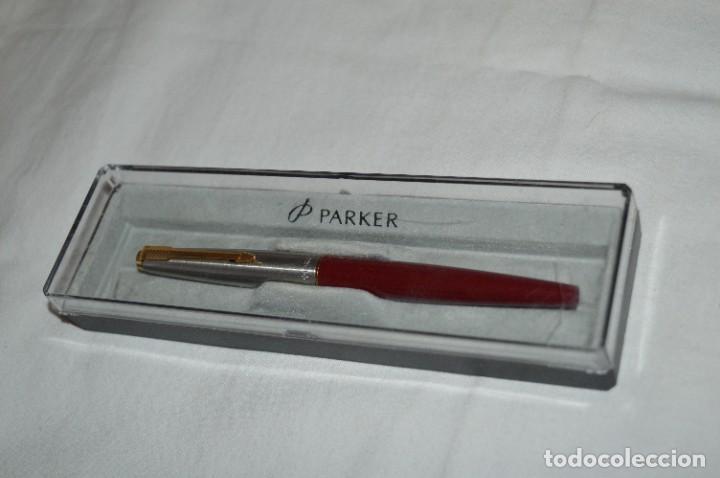 Plumas estilográficas antiguas: PARKER 45 - Roja burdeos / Detalles acero y dorados / Con caja/estuche NOS - ¡Mira fotos, PRECIOSA! - Foto 14 - 276962823