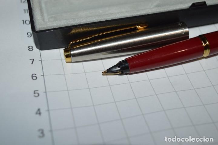 Plumas estilográficas antiguas: PARKER 45 - Roja burdeos / Detalles acero y dorados / Con caja/estuche NOS - ¡Mira fotos, PRECIOSA! - Foto 10 - 276962823