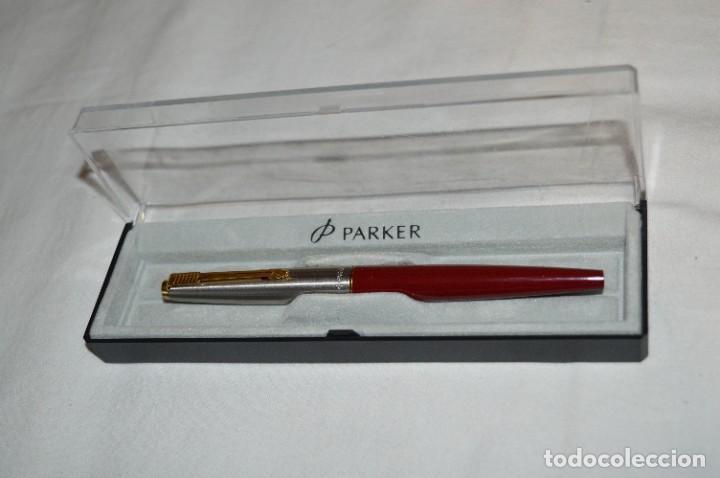 Plumas estilográficas antiguas: PARKER 45 - Roja burdeos / Detalles acero y dorados / Con caja/estuche NOS - ¡Mira fotos, PRECIOSA! - Foto 4 - 276962823