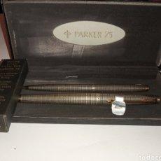 Penne stilografiche antiche: PARKER 75 ESTILOGRAFICA PLUMIN DE ORO 14K Y BOLIGRAFO. Lote 286553418