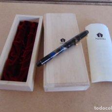 Plumas de tinta permanente antigas: PLUMA ESTILOGRAFICA NAMIKI MOUNT FUJI AND SHIP NIPPON JAPONESA CON CAJA Y DOCUMENTACION. Lote 287643583
