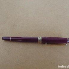 Plumas de tinta permanente antigas: PLUMA CON EL SIMBOLO DE MONT BLANC PONE EN PUNTA ,IRIDIUN POINT GERMANY. Lote 287645993