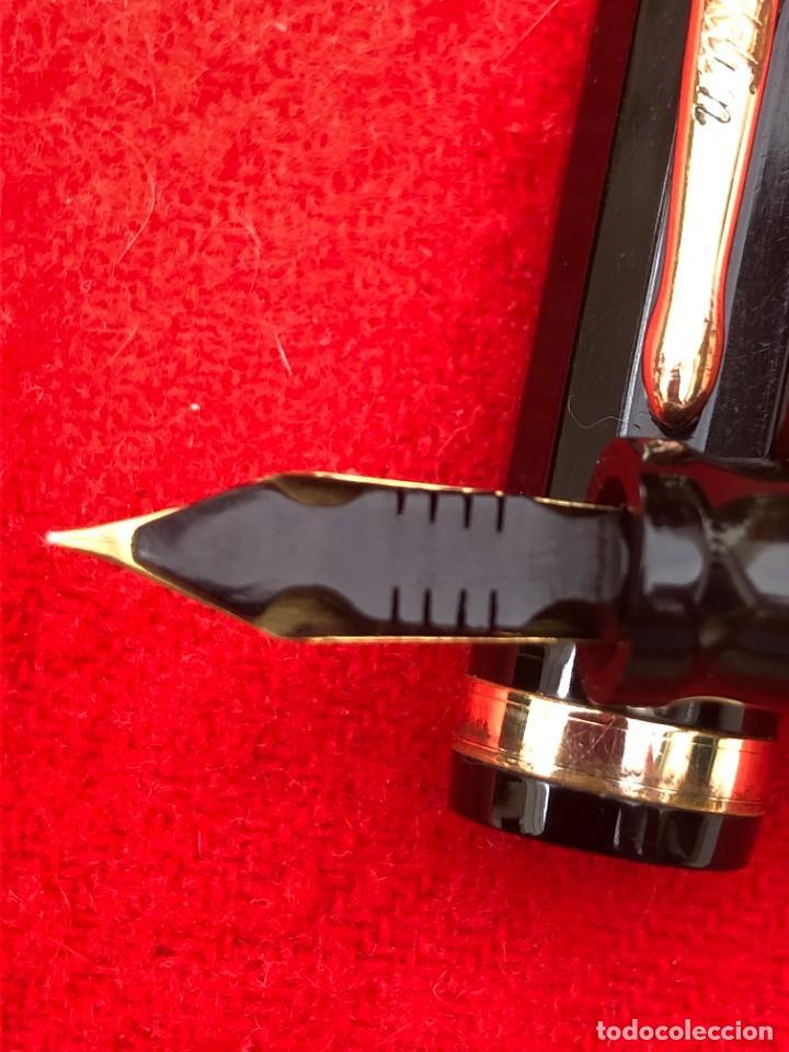 Plumas estilográficas antiguas: CONKLIN PEN Co TOLEDO OHIO U.S.A. PAT OFF - COLOR NEGRO - VENTANA LIMPIA - JUNTAS NUEVAS - Foto 4 - 287733423