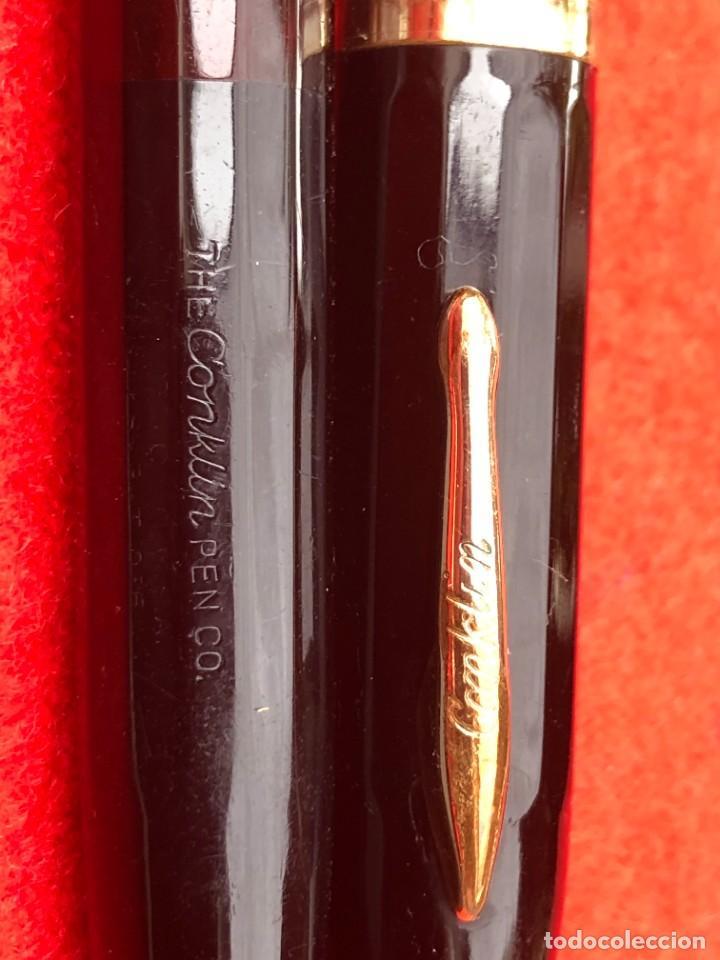 Plumas estilográficas antiguas: CONKLIN PEN Co TOLEDO OHIO U.S.A. PAT OFF - COLOR NEGRO - VENTANA LIMPIA - JUNTAS NUEVAS - Foto 7 - 287733423