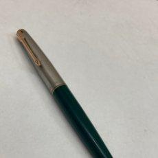 Plumas de tinta permanente antigas: PLUMA PARKER CUERPO CELULOIDE VERDE. Lote 291526488