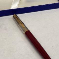 Plumas de tinta permanente antigas: PLUMA WATERMAN CUERPO LACADO ROJO. Lote 291835458