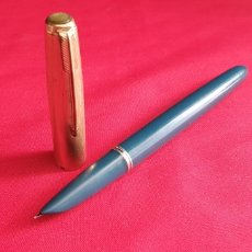 Penne stilografiche antiche: PLUMA PARKER 51, 1/10_12 CT R.GOLD. Lote 292535303
