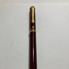 Penne stilografiche antiche: PLUMA DE LUJO MAURICE LACROIX. LACADO ROJA Y DETALLES CHAPADOS ORO. Lote 293577508