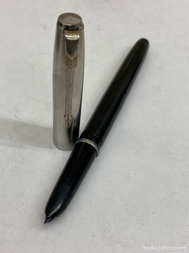 Plumas estilográficas antiguas: Pluma Stylflex cuerpo celuloide negro - Foto 3 - 293653698