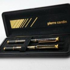 Plumas de tinta permanente antigas: IMPECABLE SET BOLÍGRAFO Y PLUMA PIERRE CARDIN.. Lote 293764668