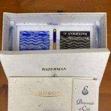 Plumas estilográficas antiguas: PLUMA ESTILOGRÁFICA WATERMAN EDSON MOB 18K F. Lote 297111113