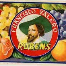 Etiquetas antiguas: CARTEL ITO FRUTAS RUBENS PEQUEÑA. Lote 11357618