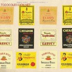 Etiquetas antiguas: ANTIGUAS CALCOMANÍAS DE ETIQUETAS DE BEBIDAS CONOCIDAS. Lote 27402004