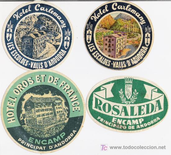 ETIQUETAS DE HOTELES **ANTIGUAS (Coleccionismo - Etiquetas)