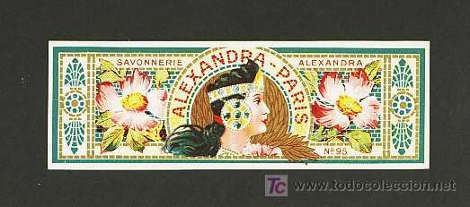 ETIQUETA DE PERFUMERIA ALEXANDRA - PARIS. ETIQUETTE PARFUM, PERFUME LABEL. MODERNISTA, ART NOUVEAU (Coleccionismo - Etiquetas)