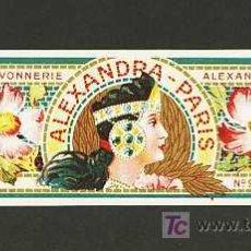 Etiquetas antiguas: ETIQUETA DE PERFUMERIA ALEXANDRA - PARIS. ETIQUETTE PARFUM, PERFUME LABEL. MODERNISTA, ART NOUVEAU. Lote 5307830