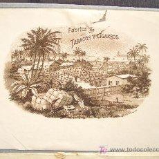 Etiquetas antiguas: ETIQUETA DE CAJA DE PUROS DE PRINCIPIOS DEL S XX. FABRICA DE TABACOS Y CIGARROS. Lote 20649152