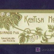 Etiquetas antiguas: ETIQUETA DE PERFUME KENTISH HOPS. EN RELIEVE. MODERNISTA,ART NOUVEAU.PARFUME LABEL, ETIQUETTE PARFUM. Lote 92127745