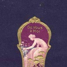 Etiquetas antiguas: ETIQUETA DE PERFUME. TROQUELADA, EN RELIEVE.MODERNISTA, ART NOUVEAU. PARFUME LABEL, ETIQUETTE PARFUM. Lote 92127810