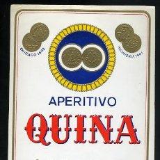 Etiquetas antiguas: ETIQUETA DE APERITIVO QUINA. OSBORNE, PTO. STA. MARIA. Lote 8352802