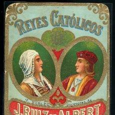 Etiquetas antiguas: ETIQUETA DE VINO REYES CATOLCOS. V. ROBLES S.L. SUCESORES DE J. RUIZ Y ALBERT MALAGA. Lote 24809174