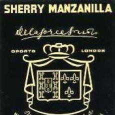 Etiquetas antiguas: ETIQUETA DE VINO SHERRY MANZANILLA DELAFORCE OPORTO. Lote 5777506
