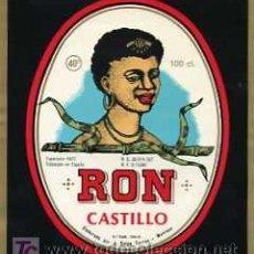 Etiquetas antiguas: ETIQUETA DE RON CASTILLO J.SALGA TORRAS MANRESA. Lote 8874579